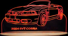 2004 Cobra SVT Convertible Acrylic Lighted Edge Lit LED Sign / Light Up Plaque Full Size Made in USA
