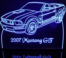 2007 Mustang GT Convertible Acrylic Lighted Edge Lit LED Sign / Light Up Plaque Full Size USA Original