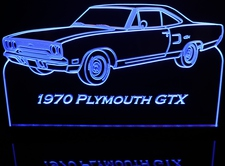 1970 Plymouth GTX Acrylic Lighted Edge Lit LED Sign / Light Up Plaque Full Size Made in USA