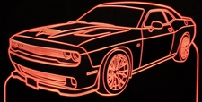 2016 Challenger Hellcat Acrylic Lighted Edge Lit LED Sign / Light Up Plaque Full Size Made in USA