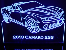 2013 Camaro 2SS Acrylic Lighted Edge Lit LED Sign / Light Up Plaque Full Size Made in USA