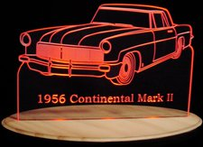 1956 Continental Acrylic Lighted Sign 56 Mark II Acrylic Light Up LED Sign