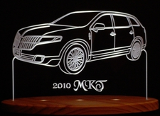 2010 Lincoln MKT Acrylic Lighted Edge Lit LED Sign / Light Up Plaque Full Size USA Original
