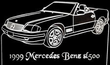 1999 Mercedes Benz SL500 Convertible Acrylic Lighted Edge Lit LED Car Sign / Light Up Plaque