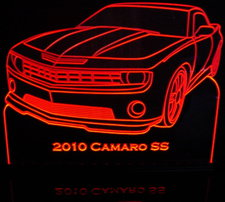 2010 Camaro SS Acrylic Lighted Edge Lit LED Sign / Light Up Plaque Full Size Made in USA
