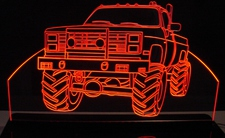 1985 + Chevy Pickup Truck Acrylic Lighted Edge Lit LED Sign / Light Up Plaque Full Size Made in USA