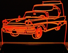 1958 Ford Skyliner Acrylic Lighted Edge Lit LED Car Sign / Light Up Plaque