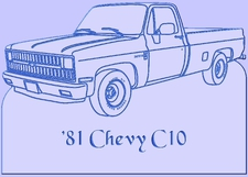 1981 Chevy Pickup Truck Single Headlamps PU Acrylic Lighted Edge Lit LED Sign / Light Up Plaque Full Size Made in USA