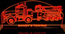 Wrecker Rotator Towing Truck Pblt Acrylic Lighted Edge Lit LED Sign / Light Up Plaque Full Size Made in USA