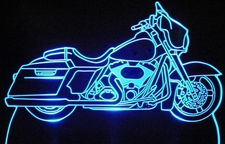 2011 Street Glide Touring Bike Acrylic Lighted Edge Lit LED Sign / Light Up Plaque Full Size Made in USA