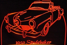 1950 Studebaker Champion Convertible Acrylic Lighted Edge Lit LED Car Sign / Light Up Plaque