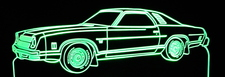 1976 Chevrolet Laguna Acrylic Lighted Edge Lit LED Car Sign / Light Up Plaque Chevy