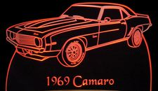 1969 Camaro Acrylic Lighted Edge Lit LED Sign / Light Up Plaque Full Size Made in USA
