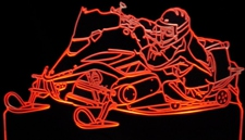 2007 Snowmobile Acrylic Lighted Edge Lit LED Sign / Light Up Plaque