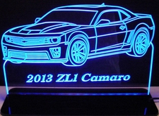 2013 Camaro ZL1 Acrylic Lighted Edge Lit LED Sign / Light Up Plaque Full Size Made in USA