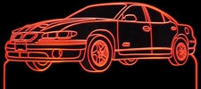 1998 Grand Prix GTP 4 Door Acrylic Lighted Edge Lit LED Sign / Light Up Plaque Full Size Made in USA