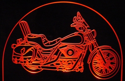 1993 FLXR Motorcycle 90th Anniversary Acrylic Lighted Edge Lit LED Bike Sign / Light Up Plaque Full Size USA Original