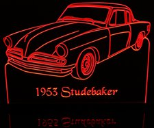 1953 Studebaker Acrylic Lighted Edge Lit LED Car Sign / Light Up Plaque