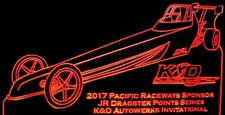 Jr Dragster Trophy Award (Add Your Own Text) Acrylic Lighted Edge Lit LED Sign / Light Up Plaque Full Size Made in USA