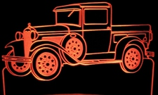 1930 Model A Pickup Acrylic Lighted Edge Lit LEDTruck Sign / Light Up Plaque