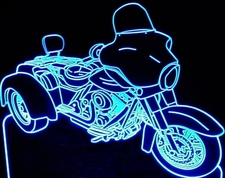 2011 Trike Motorcycle Acrylic Lighted Edge Lit LED Bike Sign / Light Up Plaque