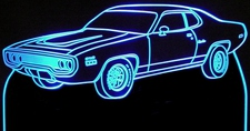 1972 Plymouth Satellite Sebring Acrylic Lighted Edge Lit LED Sign / Light Up Plaque Full Size Made in USA