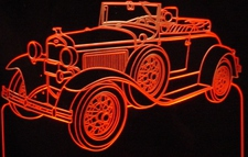 1931 Model A Roadster Acrylic Lighted Edge Lit LED Car Sign / Light Up Plaque Full Size USA Original