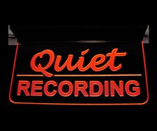 Recording Quiet Music Studio Court house Room Ceiling Mount Acrylic Lighted Edge Lit LED Sign / Light Up Plaque Full Size Made in USA