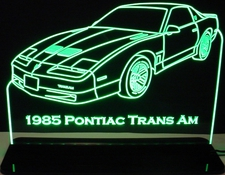 1985 Trans Am Acrylic Lighted Edge Lit LED Sign / Light Up Plaque Full Size Made in USA