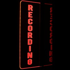 Recording Courthouse Music Studio Court Room Right Side Wall Mount Acrylic Lighted Edge Lit LED Sign / Light Up Plaque Full Size Made in USA