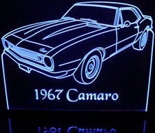 1967 Camaro SS Acrylic Lighted Edge Lit LED Sign / Light Up Plaque Full Size Made in USA