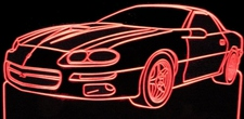 1999 Chevy Camaro Hugger Acrylic Lighted Edge Lit LED Car Sign / Light Up Plaque