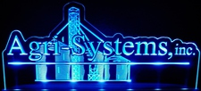 "Agri-Systems SAMPLE ONLY Advertising Business Logo Acrylic Lighted Edge Lit 21"" Led Sign Light Up Plaque"