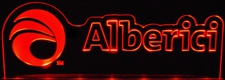 "Alberici SAMPLE ONLY Advertising Business Logo Acrylic Lighted Edge Lit 21"" Led Sign Light Up Plaque"