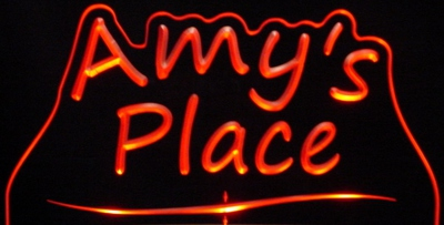 Amys Amy Place Room Den Office You Name It Acrylic Lighted Edge Lit LED Sign / Light Up Plaque