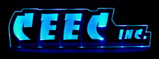 CEEC Advertising Business Logo Acrylic Lighted Edge Lit LED Sign / Light Up Plaque Full Size Made in USA