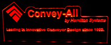 "Convey 2 SAMPLE ONLY Advertising Business Logo Acrylic Lighted Edge Lit 21"" Led Sign Light Up Plaque"