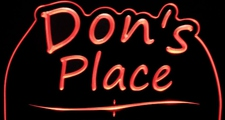 Dons Place Bar Office Room trophy award Acrylic Lighted Edge Lit LED Sign / Light Up Plaque Full Size Made in USA