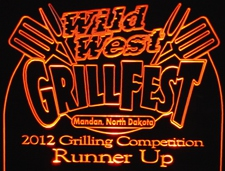 Grill Fest 2012 SAMPLE ONLY Acrylic Lighted Edge Lit LED Advertising Sign / Light Up Plaque