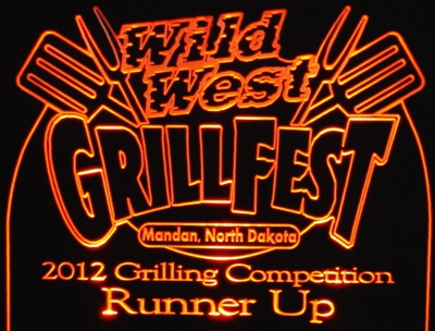 Grill Fest 2012 Acrylic Lighted Edge Lit LED Sign / Light Up Plaque Full Size Made in USA