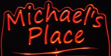 Michaels Michael Place Room Den Office (add your own name) Acrylic Lighted Edge Lit LED Sign / Light Up Plaque Full Size Made in USA