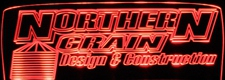 Northern Grain Advertising Business Logo Acrylic Lighted Edge Lit LED Sign / Light Up Plaque Full Size Made in USA