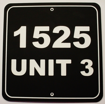 "2 Home Address Street Number Name Sign Laminated Acrylic 11"" x 11"" State Your Text Unit 3 1525 Made in the USA"
