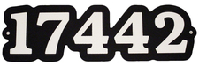"1 Home Address Street Number Name Sign Laminated Acrylic 21"" x 9"" State Your Text 17442 Made in the USA"