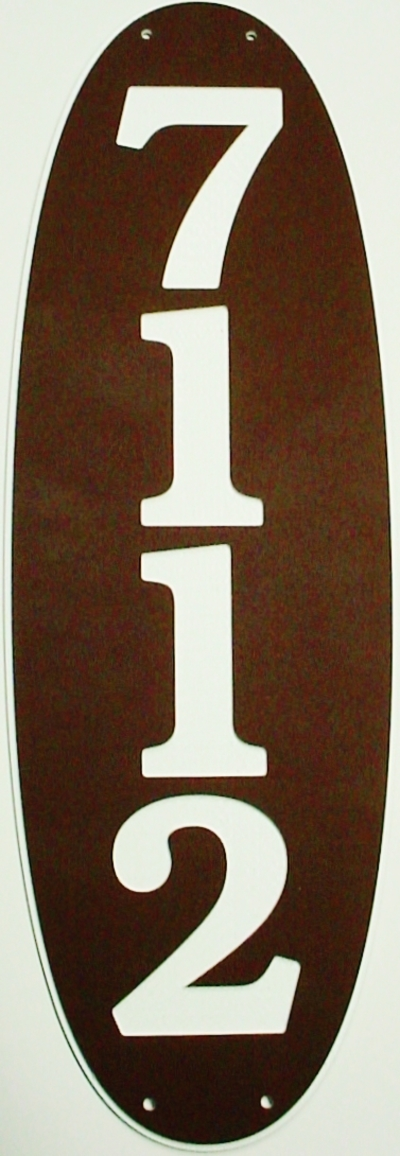 "1 Home Address Street Number Name Sign Laminated Acrylic 12"" x 4"" State Your Text 7112 Made in the USA"