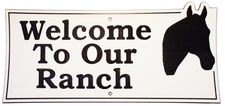 "3 Welcome Name Sign Laminated Acrylic 21"" x 10"" State Your Text Ranch with Horse Made in the USA"