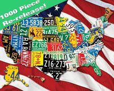 Jigsaw Puzzle State Plates 1000 piece CLOSEOUT