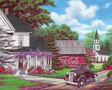Jigsaw Puzzle Coca-Cola Country Coke 1000 piece Old House Barn Church Pickup  CLOSEOUT