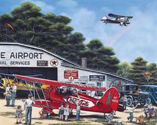 Jigsaw Puzzle Spirit of Coke 1000 piece Coca-Cola  Airplane Airport CLOSEOUT